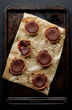 Molten Chocolate and Salted Caramel Tarts!