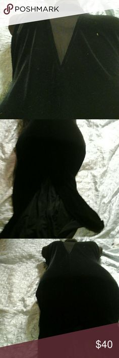 Fredericks of Hollywood Sultry Lingerie Dress Backless, sleeveless, sheer panel from top of collar past the middle of the beast plate/delta Frederick's of Hollywood Dresses Backless