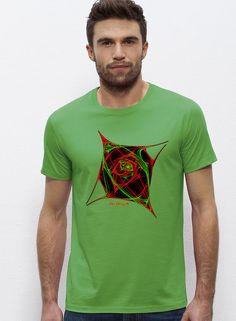 """Diseño """"Atomic"""" Camisetas personalizadas Hombre colores: Verde camisetastheorigen.com"""