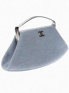 This is Dreamy Unusual CHANEL vintage - lavender blue cotton bag - ladies purse sale, stylish handbags, hand purse for ladies online *ad Chanel Handbags, Luxury Handbags, Purses And Handbags, Leather Handbags, Designer Handbags, Leather Purses, Stylish Handbags, Leather Bag, Vintage Chanel Bag
