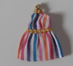 Vintage -Very Rare- Dawn Doll Multi Color Striped Halter Style Mini Dress  | eBay