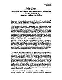 the road not taken short essay