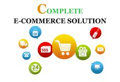 E-commerce is a process of buying and selling stuffs through the Internet. It can include products, brands, and services. E-Commerce covers a wide range in on-line businesses. It has become one of the most important results of the spread of the Internet.