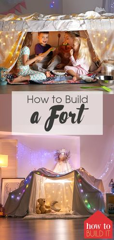 fort ideas indoor Every kid loves a fort. You probably did when you were young. Learn how to build kids forts inside or outside. Let your imagination take you back to when you were young Sleepover Fort, Fun Sleepover Ideas, Trampolines, How To Make Forts, Indoor Forts, Indoor Games, Kids Fort Indoor, Indoor Playground, Sofa Fort