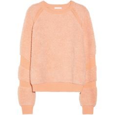Chloé Flocked wool and cashmere-blend sweater ($1,075) ❤ liked on Polyvore