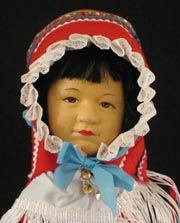 Close up of a Saami doll.