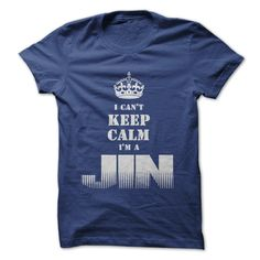 """I Cant Keep Calm Im a JIN"" shirt. Color Royal Blue. For This T-shirt visit http://www.sunfrogshirts.com/Im-a-JIN-RoyalBlue.html?8542"