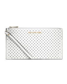 Must-get extra. Jet Set Perforated Zip Clutch