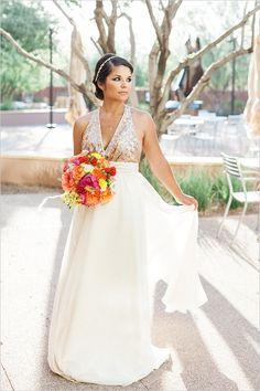 gold sequin wedding dress #weddingdress @weddingchicks