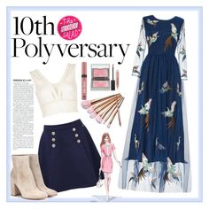 """Celebrate Our 10th Polyversary!"" by rachelsdescription on Polyvore featuring River Island, Tommy Hilfiger, Gianvito Rossi, Sisley, Burberry, Victoria's Secret, GE, polyversary and contestentry"