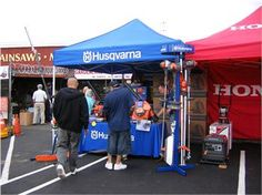 #Husqvarna Factory Rep was on hand at the last #Gardenland Power Equipment sale