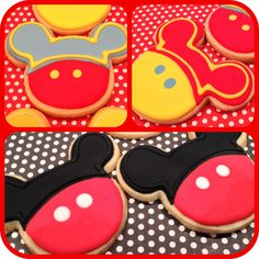 Mickey Mouse Cookies! Made to order decorated sugar cookies with royal icing.