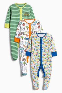 Buy Three Pack Scribble All Over Print Sleepsuits (0mths-2yrs) online today  at 6ab10e0f70fe
