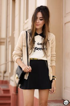 FashionCoolture - 04/26/2015 look du jour Dafiti nude and black (2)
