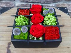 Preserved Flower Arrangement ZEN BENTO BOX by floralartstudio