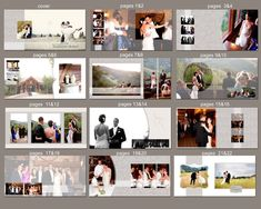 0363 12X12 Photoshop PSD Book Album Template - Classic Couple Neutral - For Wedding, Birth, Baby, Engagement - Exact Size, Whcc or Mpix. $25.00, via Etsy.