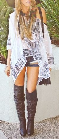 Bohemian Style Two rectangles sewn together but leaving a slit in the middle to sew into the neck hole
