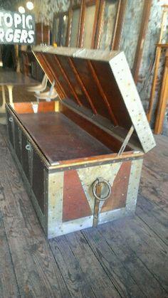 Vintage Magicians Wooden Trunk