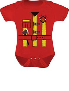9d9e273dfccd8 TeeStars - Baby Fireman Uniform Firefighter Halloween Costume Baby Bodysuit  affiliate
