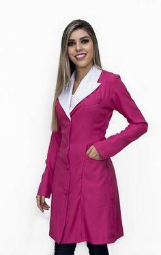 Glamour, Ideias Fashion, Wrap Dress, Blouse, Jackets, Dresses, Fashion Coat, Blue And White, Fabric Handbags