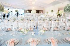 I just love the decor of one of my brides wedding, duck egg blues, peaches and cream. Simple but highly effective, Absolutely stunning!
