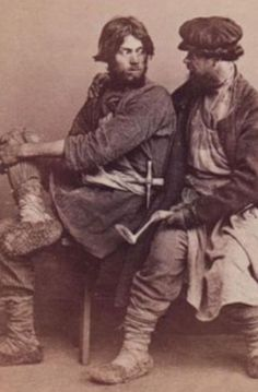 Before 1872- Russian peasants photographed by William Carrick