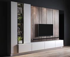 Modern Tv Room, Modern Tv Wall Units, Modern Tv Cabinet, Tv Unit Interior Design, Tv Unit Furniture Design, Tv Cabinet Design, Tv Wall Design, Tv Set Design, Living Room Tv Unit Designs