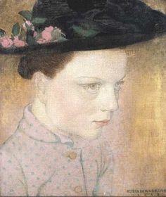 """Gustave Van De Woestyne (1881 - 1947) """"Boerinnetje"""""""