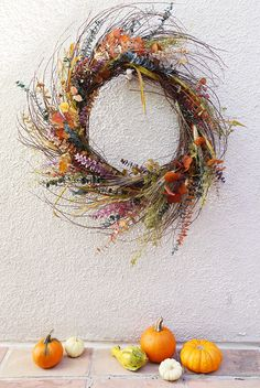 """""""How To Make You Own Harvest Wreath""""   Front Roe, a fashion blog by Louise Roe"""
