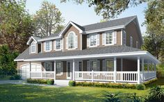Farmhouse House Plan with 2555 Square Feet and 4 Bedrooms(s) from Dream Home Source | House Plan Code DHSW74395