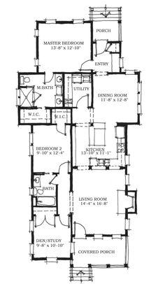 First Floor Plan of Southern   House Plan 73710
