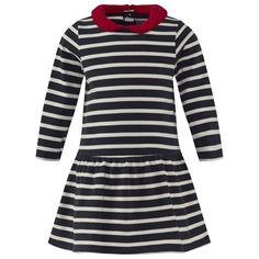 Petit Bateau Striped Drop Waist Dress