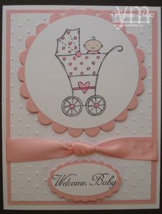 Welcome Baby Card Pink by KraftsbyYvonne on Etsy, $5.00