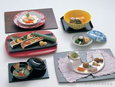 "Traditional Japanese Cuisine ""Kaiseki"" 懐石料理 ~K~ beautiful presentation. Love the bamboo !"