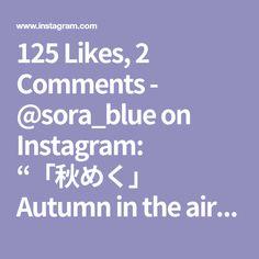 "125 Likes, 2 Comments - @sora_blue on Instagram: ""「秋めく」 Autumn in the air:) #今宵ひと花#todayoneflower #tonightoneflower#instaflower #いけばな#ikebana#華道…"""