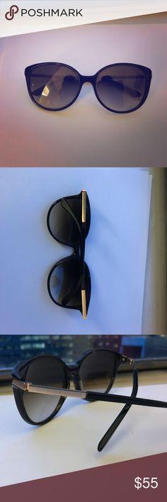 Kate spade sunglasses Authentic, barely worn, Kate spade sunglasses. Dark tortoise and stylish shape. kate spade Accessories Sunglasses