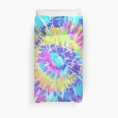 'Tye Dye soft colours' Duvet Cover by Vintage Hippie, Retro Vintage, Soft Colors, Colours, Duvet Cover Design, Dorm Bedding, Tye Dye, Duvet Insert, Duvet Covers