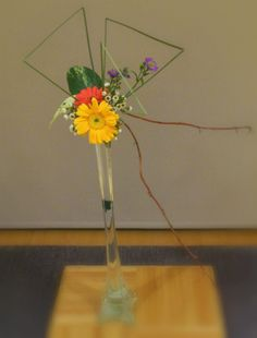 March 19, 2013 Freestyle Materials: Gerbera, Aster, Pothos leaf, Wax flower,