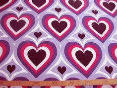 6ux  Tricot  Retro mat jeansblauw/rood hart  2042-6N