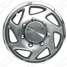 DeluxeAuto 16 Silver with Chrome Ring Wheel Covers/Hubcaps Set of 4 is compatible with