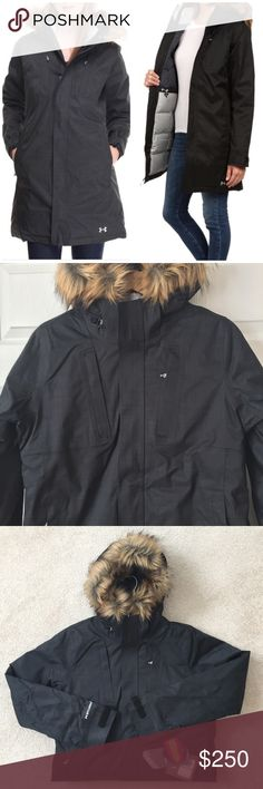 Under Armour Parka - Small Black - charcoal gray color Under Armour Jackets & Coats