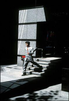 Magnum Photos Harry Gruyaert 1996 JAPAN. Tokyo. Office building in Shinjuku district. 1996