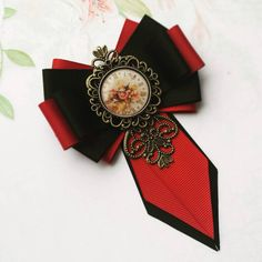 Ribbon Jewelry, Jewelry Crafts, Ribbon Crafts, Ribbon Bows, Brooch Corsage, Unusual Jewelry, Flower Making, Hair Bows, Diy And Crafts