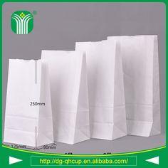 custom kraft paper material takeaway bag for food packing