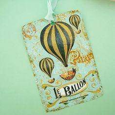 Le Balloon French Hot Air Ballon Tags Series One by jolipapier