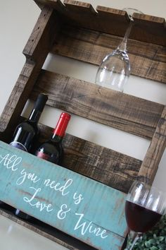 Reclaimed Wood Wine Rack  Pallet Wine Rack  Wine Rack Shelf  Wine Rack Wall Moun...#moun #pallet #rack #reclaimed #shelf #wall #wine #wood Pallet Wine Rack Diy, Rustic Wine Racks, Wine Rack Shelf, Wine Rack Wall, Pallet Picture Display, Picture Frames, Pallet Pictures, Wine Bottle Glasses, Craft Stick Crafts