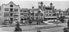 Gone: The Hollywood Hotel was a famous hostelry and landmark located on the north side of Hollywood Boulevard between Highland and Orchid avenues in Hollywood, California. Razed in Hollywood Hotel, Hollywood Boulevard, West Hollywood, Vintage Hollywood, Garden Of Allah, Hotel Sites, Los Angeles Hollywood, Santa Monica Blvd, City Of Angels