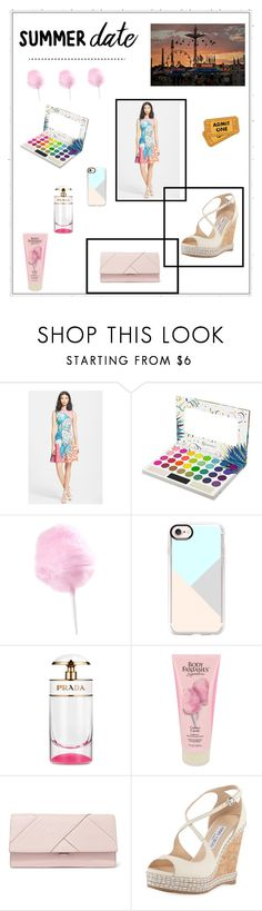 """""""Summer Date 🎡🎢"""" by lauren-ilana ❤ liked on Polyvore featuring Clover Canyon, Casetify, Prada, Michael Kors and Jimmy Choo"""