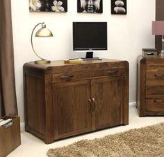Shiro Walnut Hidden Home Office - CDR06A