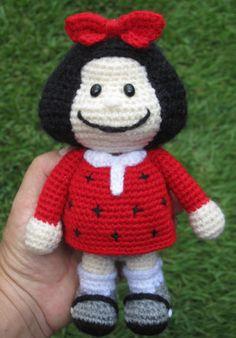 Mafalda inspired doll